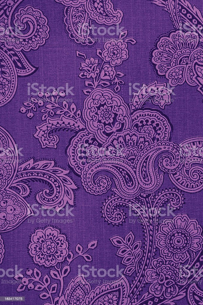 Purple Vintage Paisley Retro Wallpaper stock photo