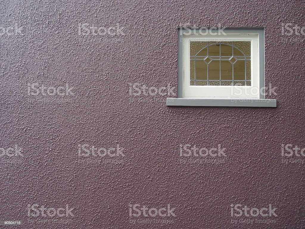 purple wall with window royalty-free stock photo
