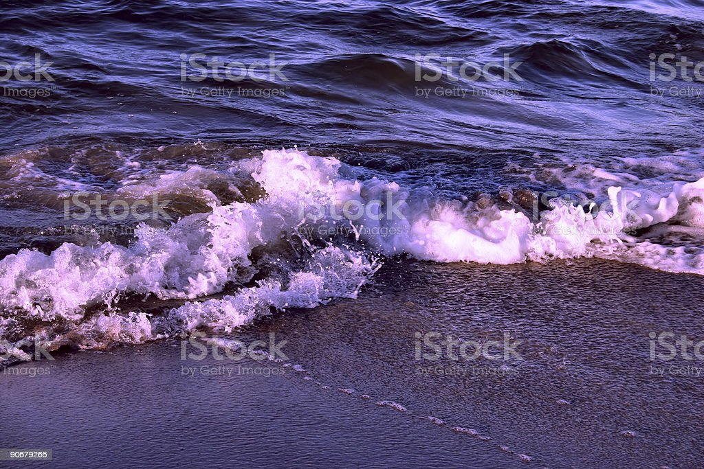 purple wave royalty-free stock photo