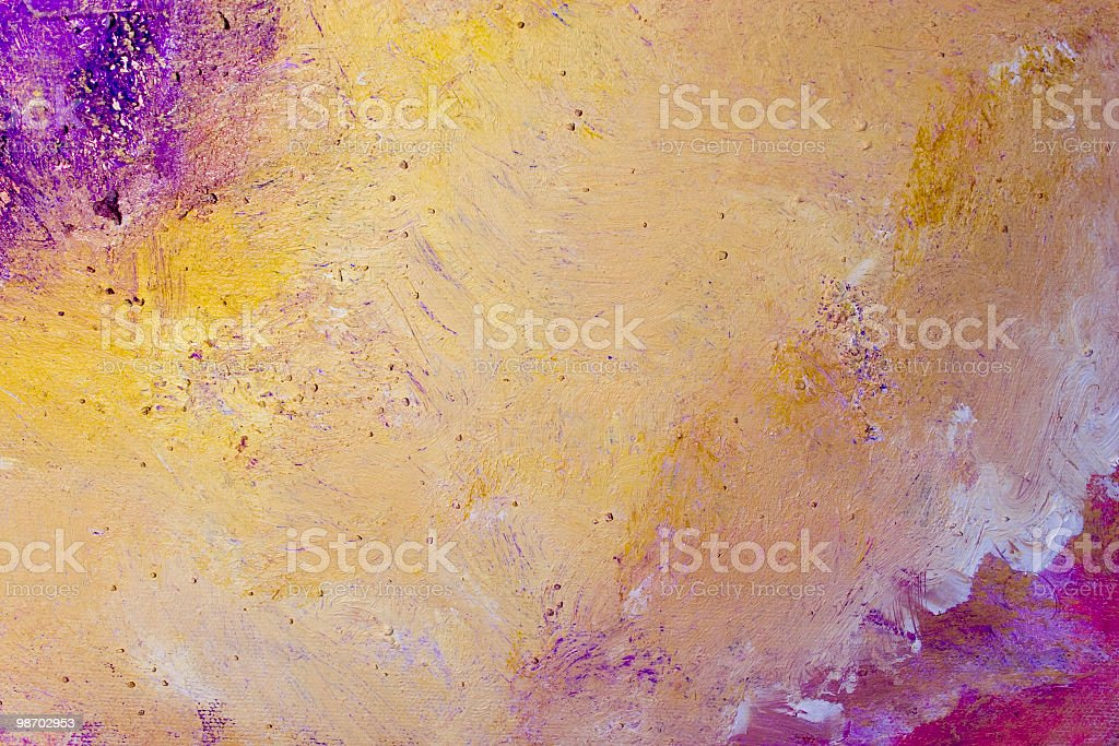 Purple, white, and gold abstract acrylic painting royalty-free stock photo