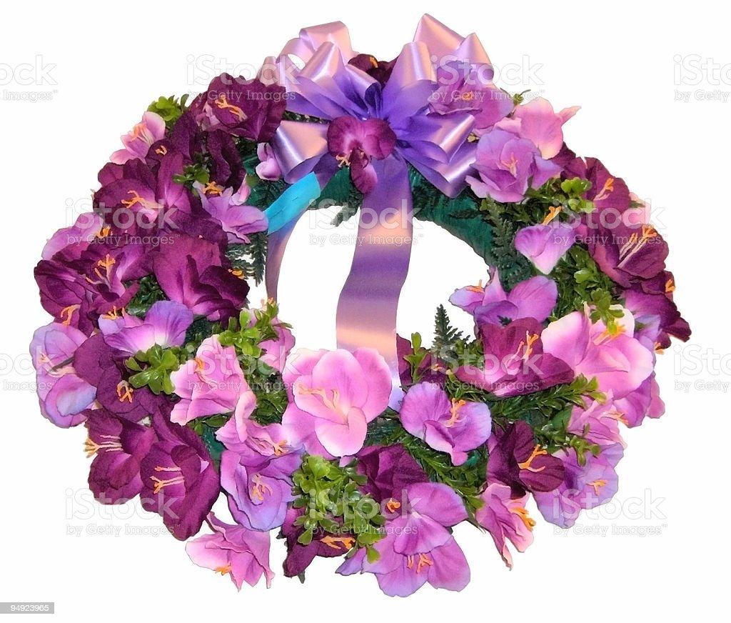 Purple Wreath royalty-free stock photo
