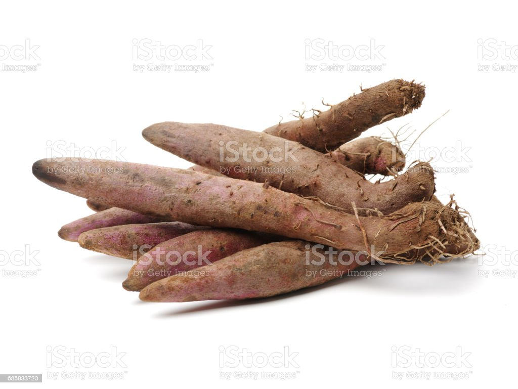 Purple Yams  on the white background stock photo