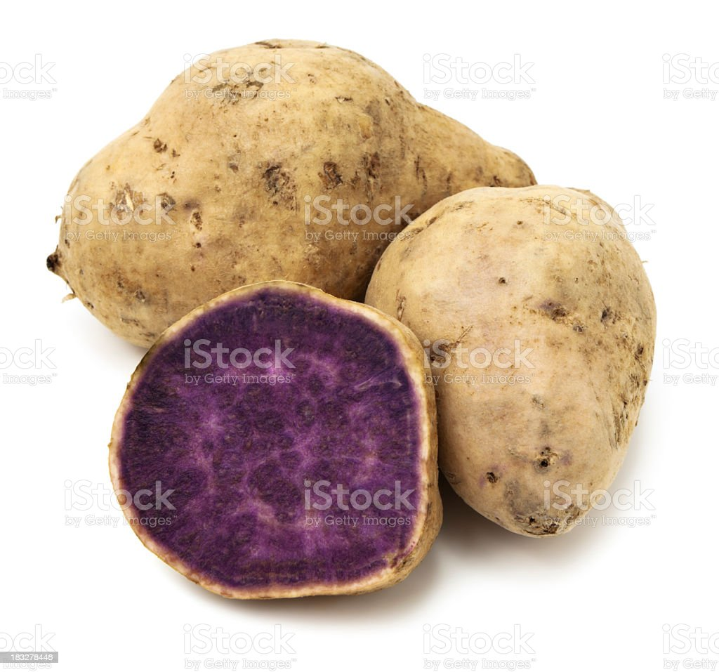 Purple yams royalty-free stock photo