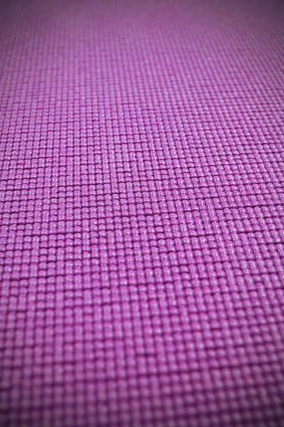 Purple Yoga Mat Design Element Vertical Stock Photo