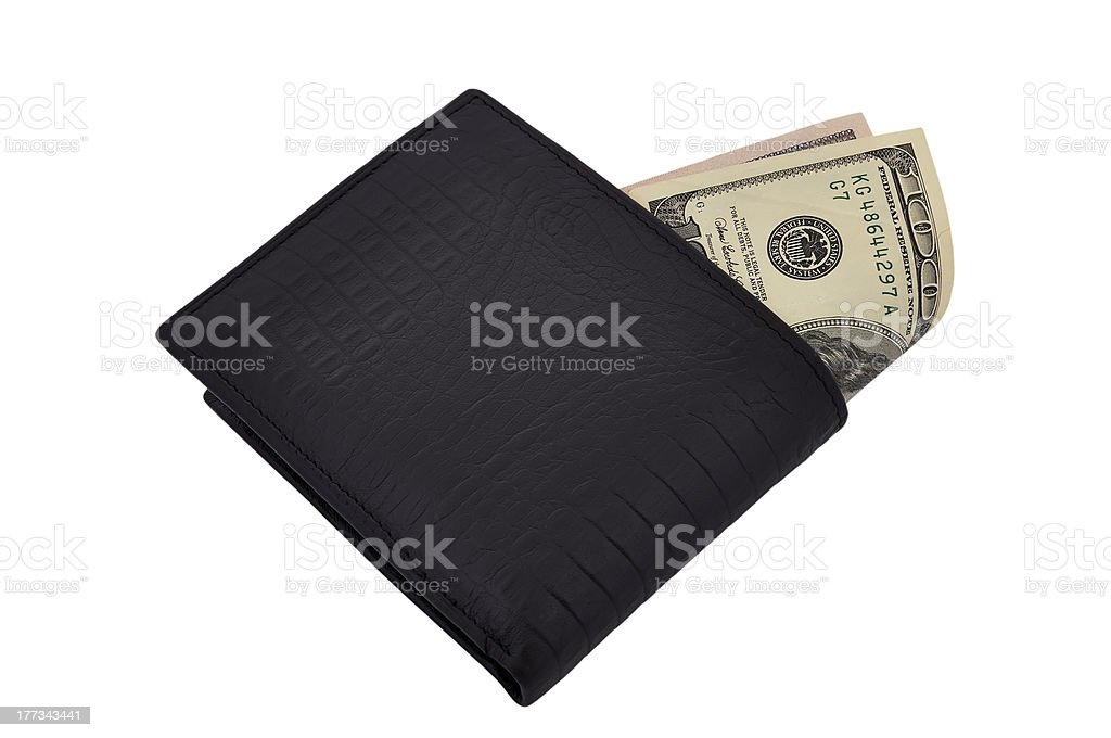 purse and dollars royalty-free stock photo