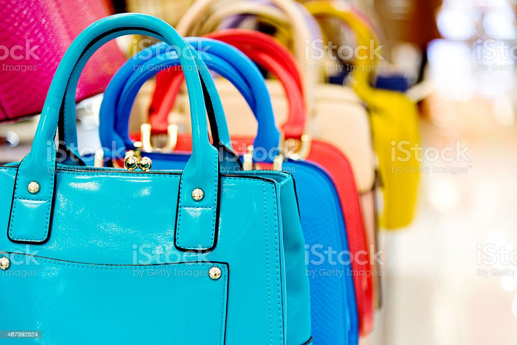 purse in the market stock photo