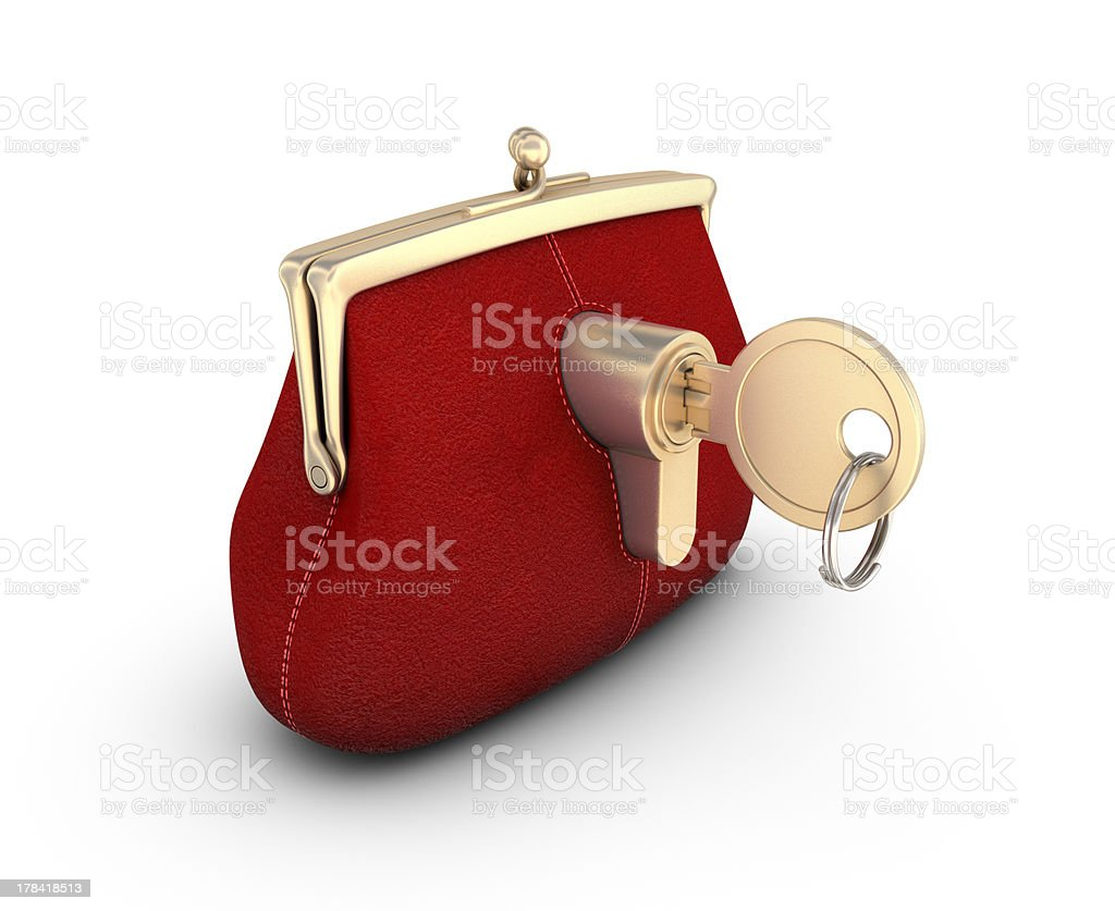 Purse on the key. royalty-free stock photo