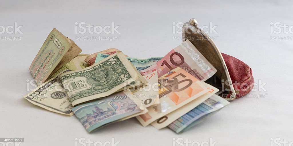 Purse with banknotes royalty-free stock photo