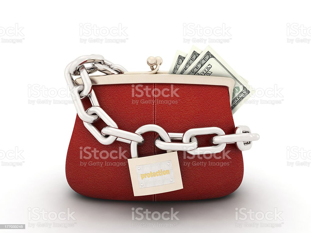 purse with dollars royalty-free stock photo