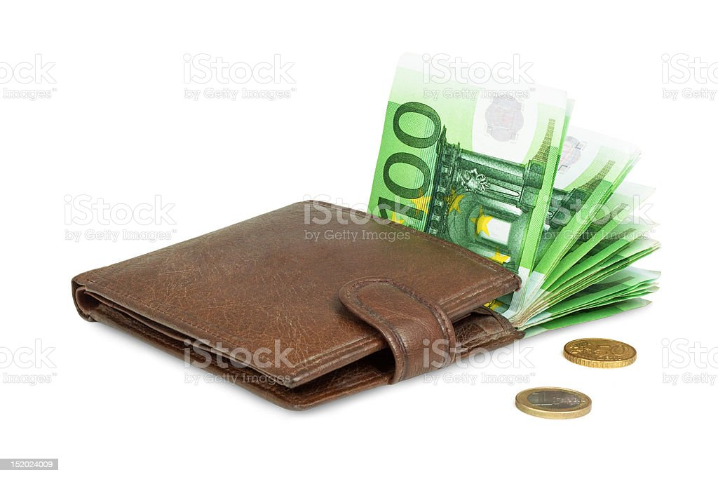 Purse with money royalty-free stock photo