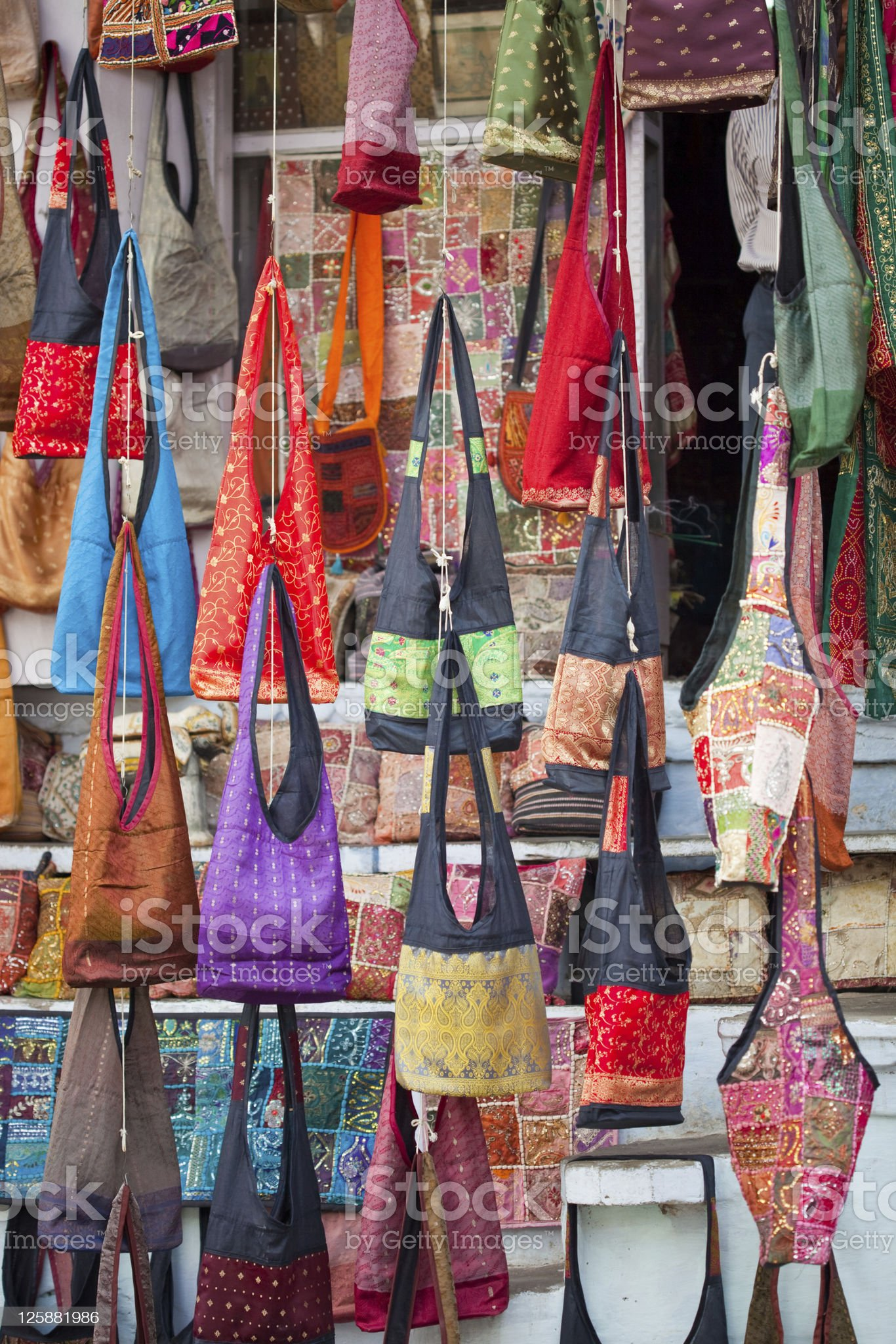 Purses From Rajasthan, India royalty-free stock photo