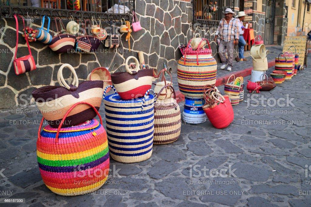 Purses of Tepoztlan stock photo