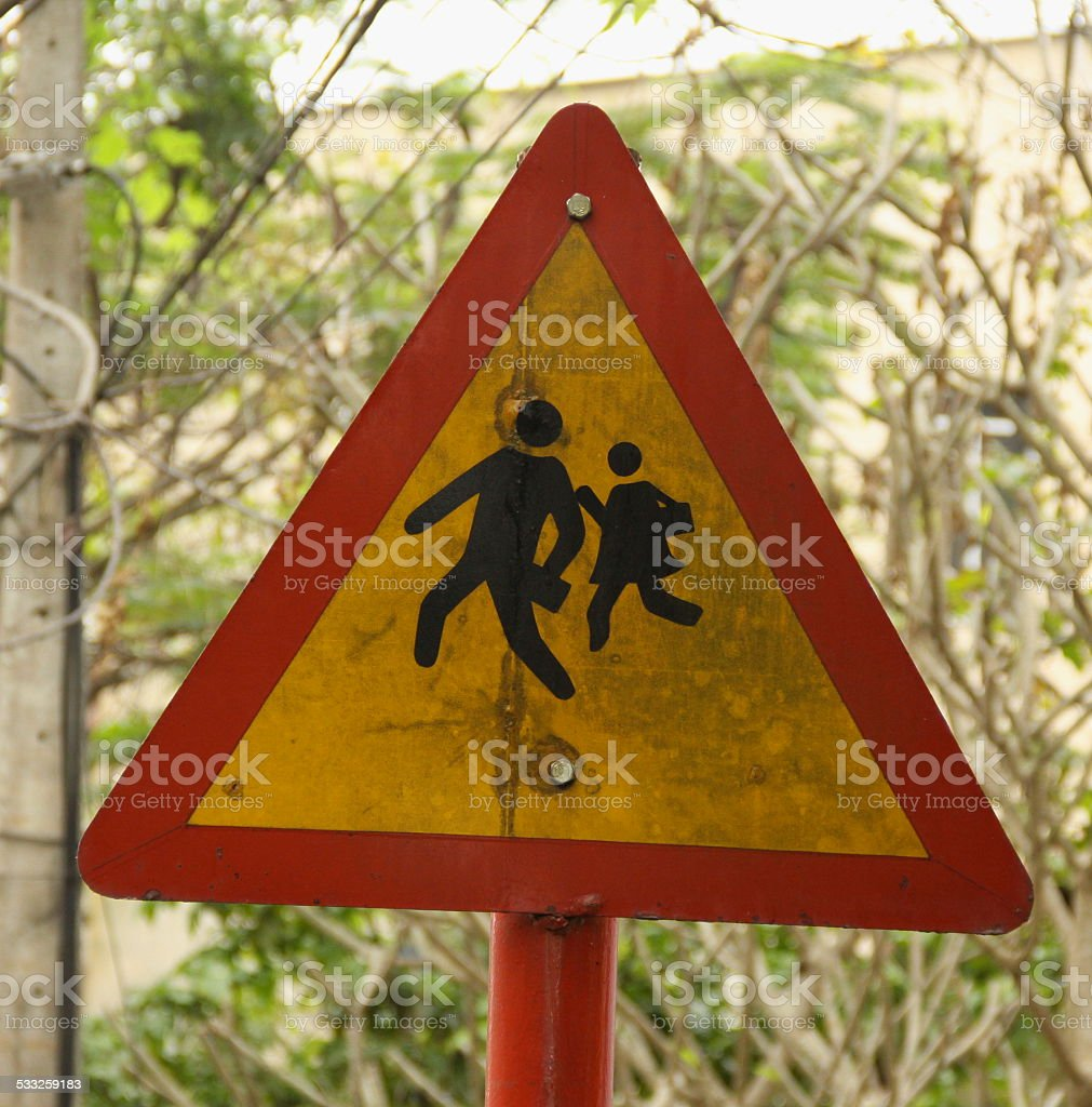purse-snatching caution stock photo