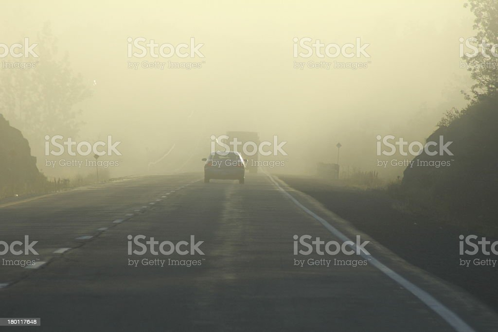 Pursuit on the Highway stock photo