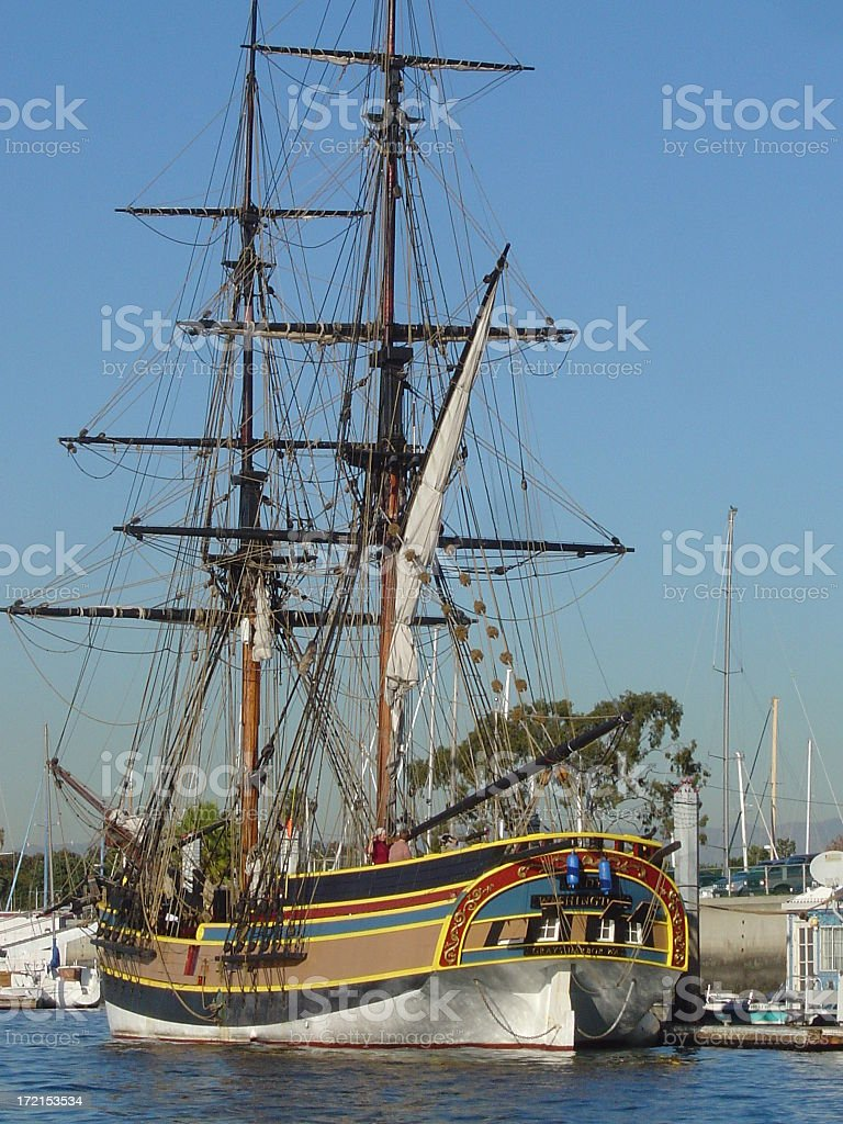 Purty lil ship stock photo