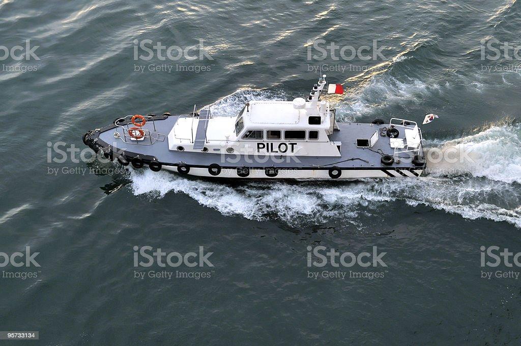 Pusan Harbor Pilot Boat royalty-free stock photo