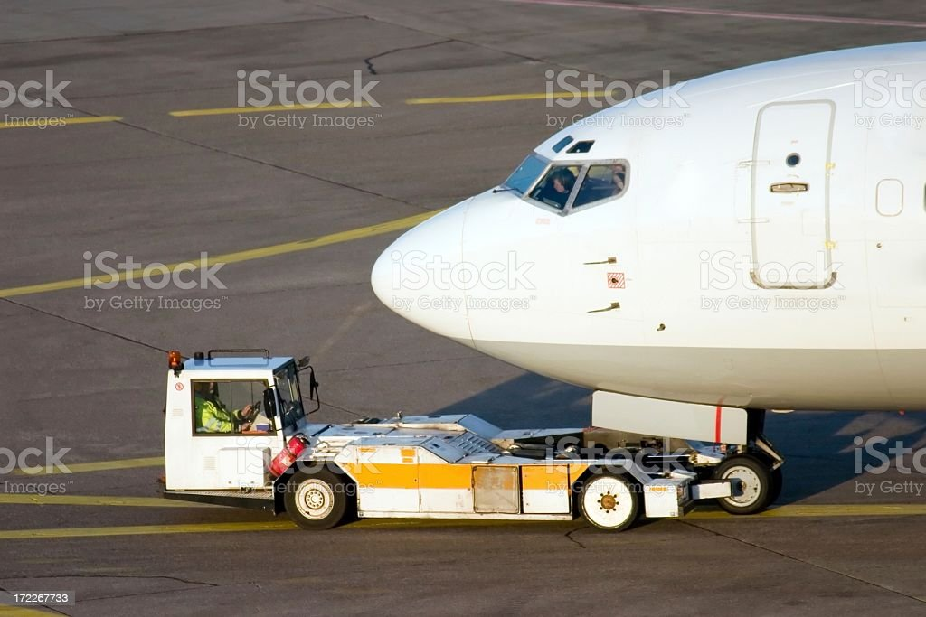 Push back stock photo