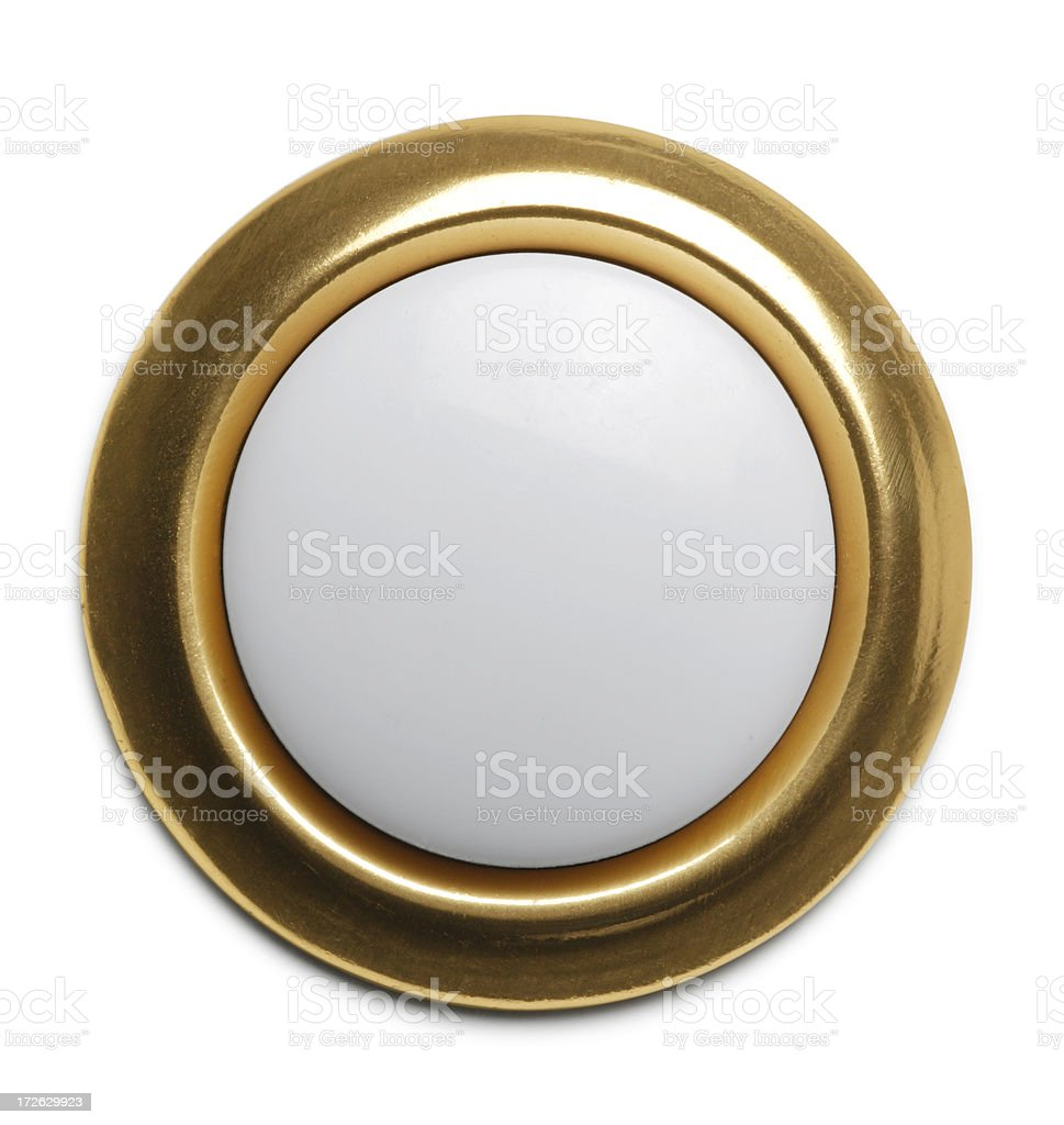 Push Button Doorbell stock photo