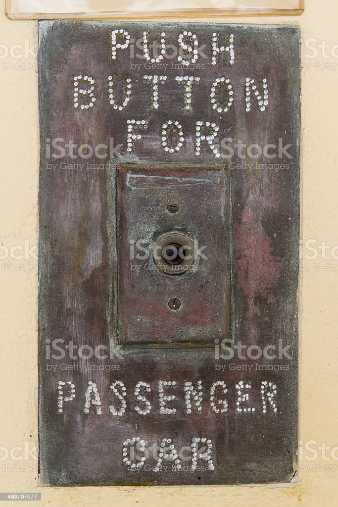 push button for passenger car stock photo