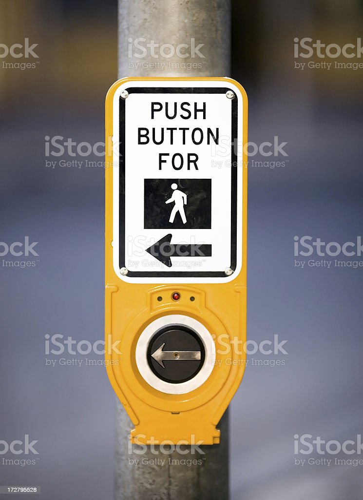 Push Button For stock photo
