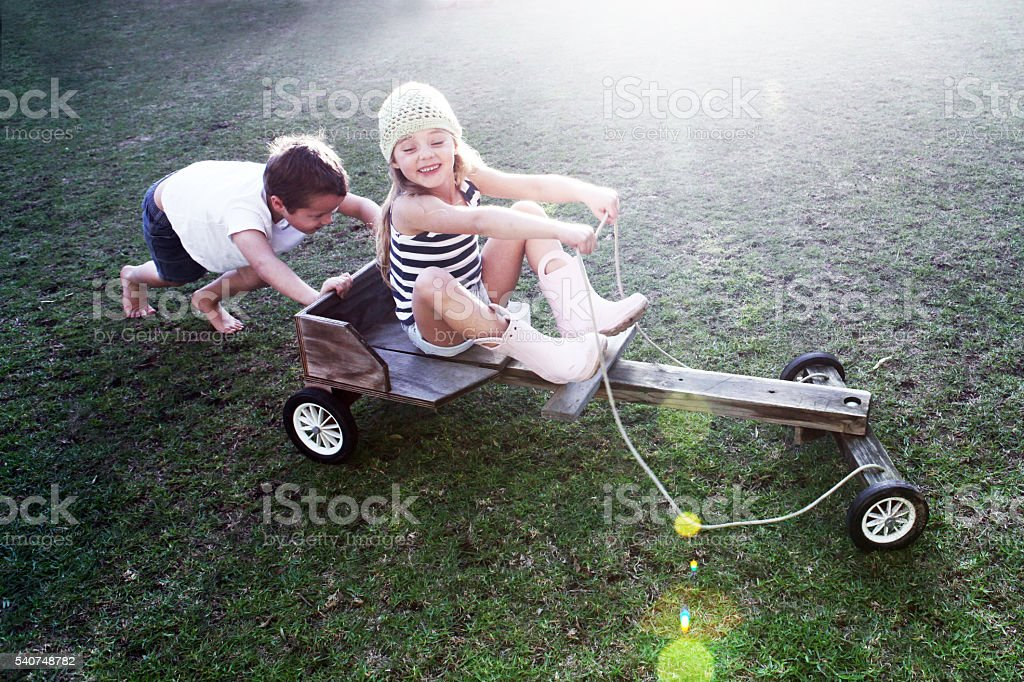 Push cart stock photo