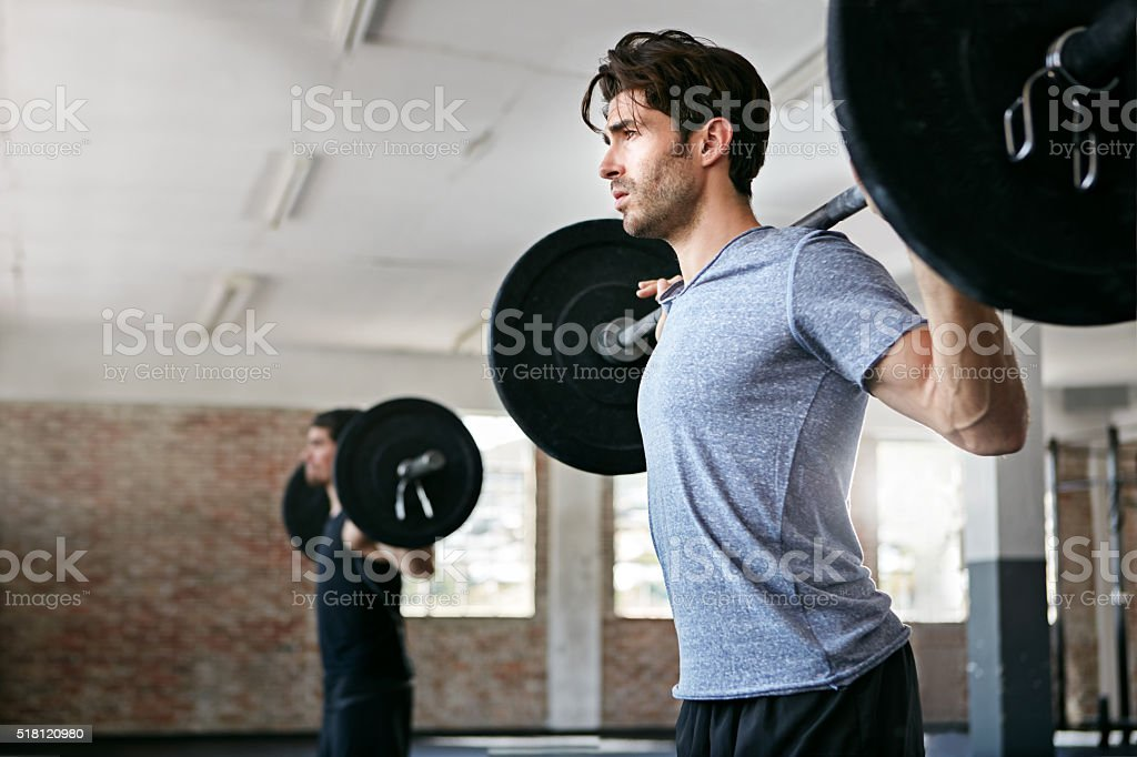 Push harder, get stronger stock photo