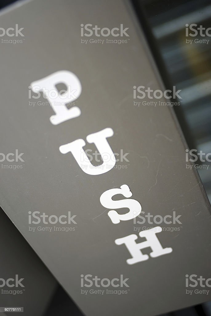 Push royalty-free stock photo