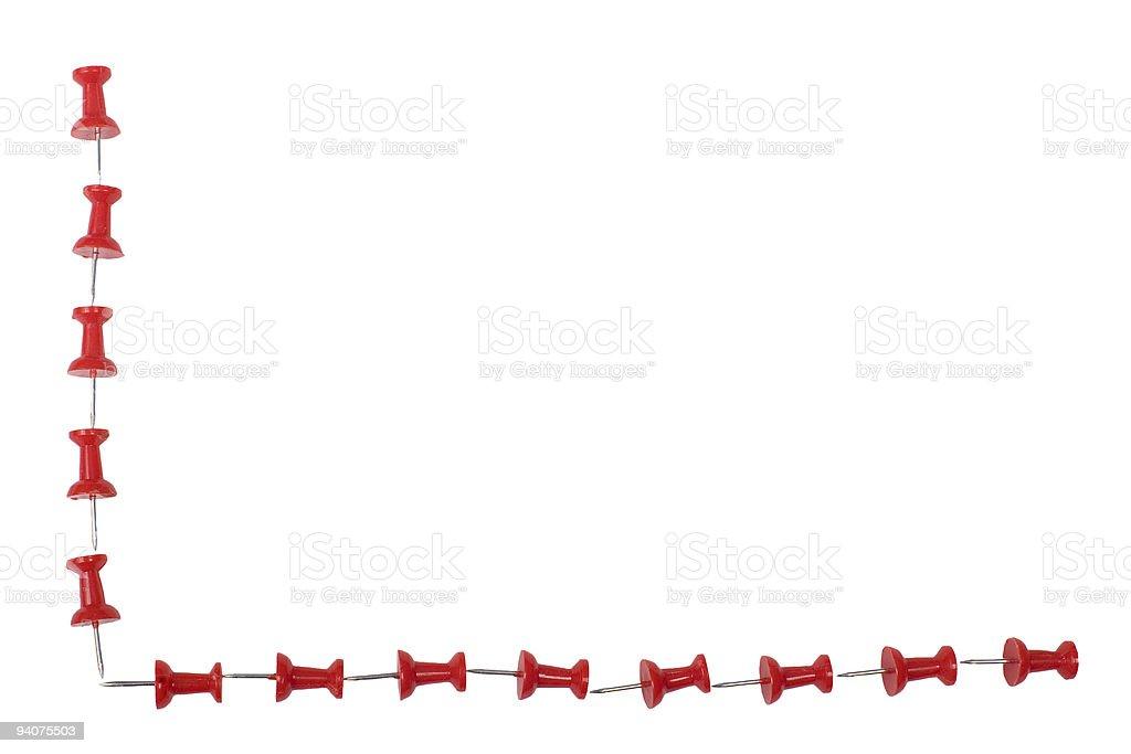 Push pin border royalty-free stock photo