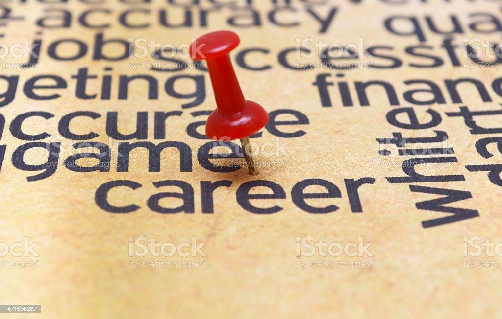 Push pin on career royalty-free stock photo