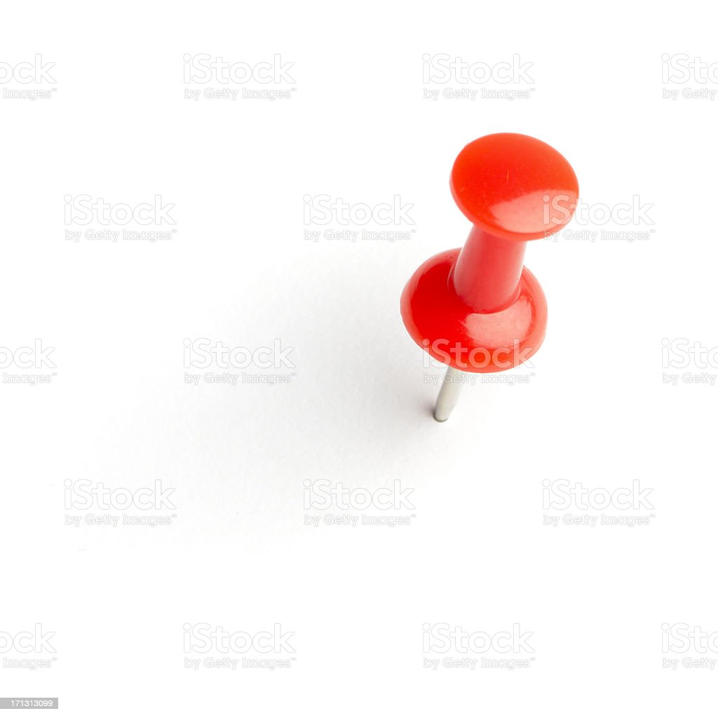 Push pin stock photo