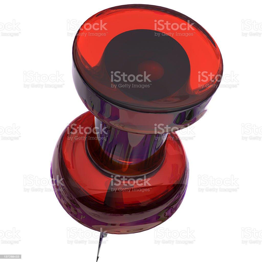 Push pin red royalty-free stock photo