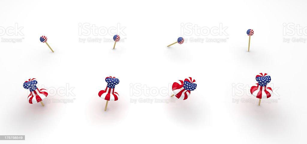 Push pins royalty-free stock photo