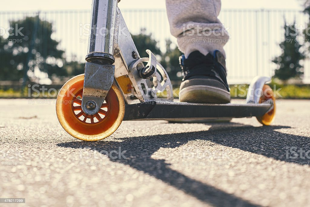 Push Scooter stock photo