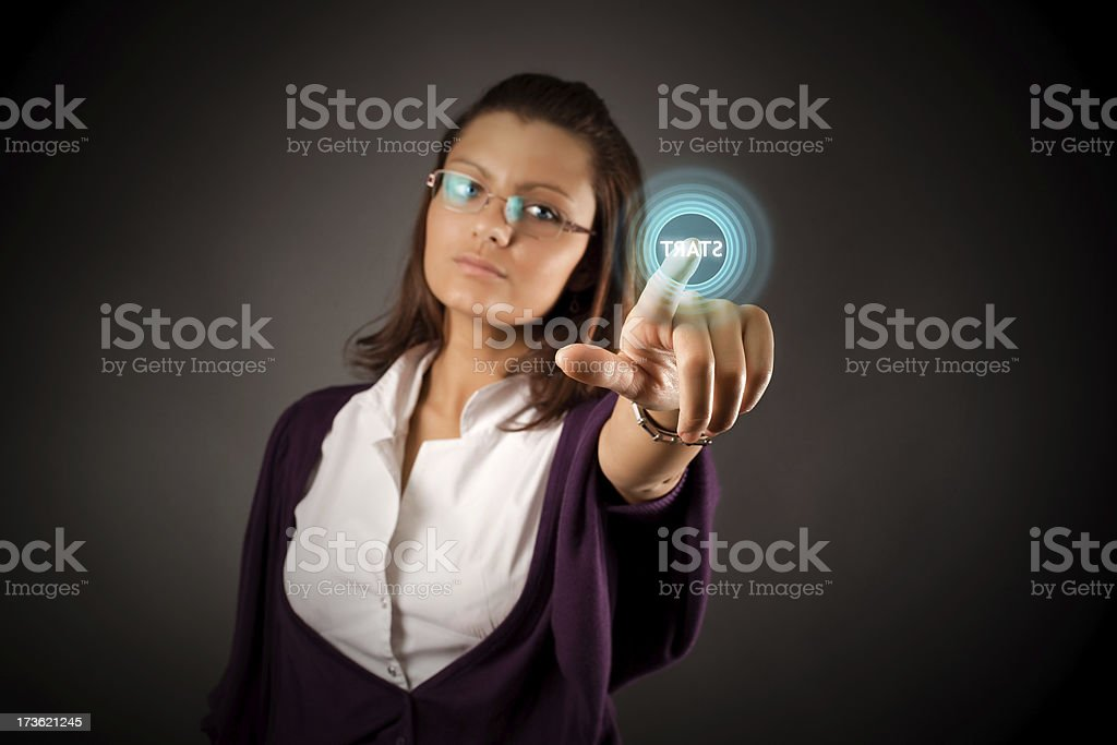 Push the button royalty-free stock photo