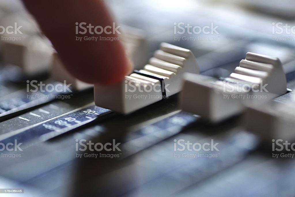 Push the fader royalty-free stock photo