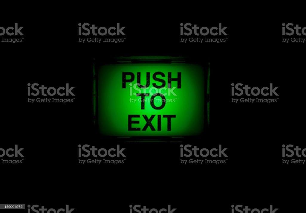 Push To Exit stock photo