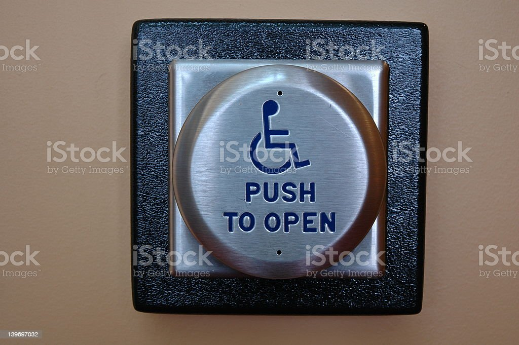 Push To Open royalty-free stock photo