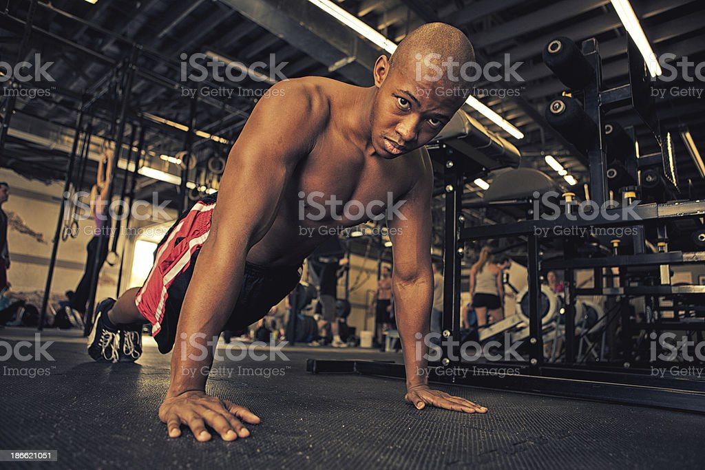 push ups royalty-free stock photo
