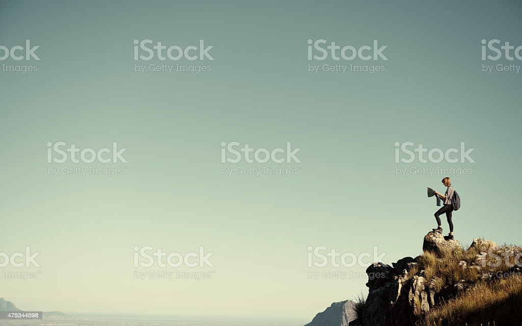 Push yourself to your limit stock photo