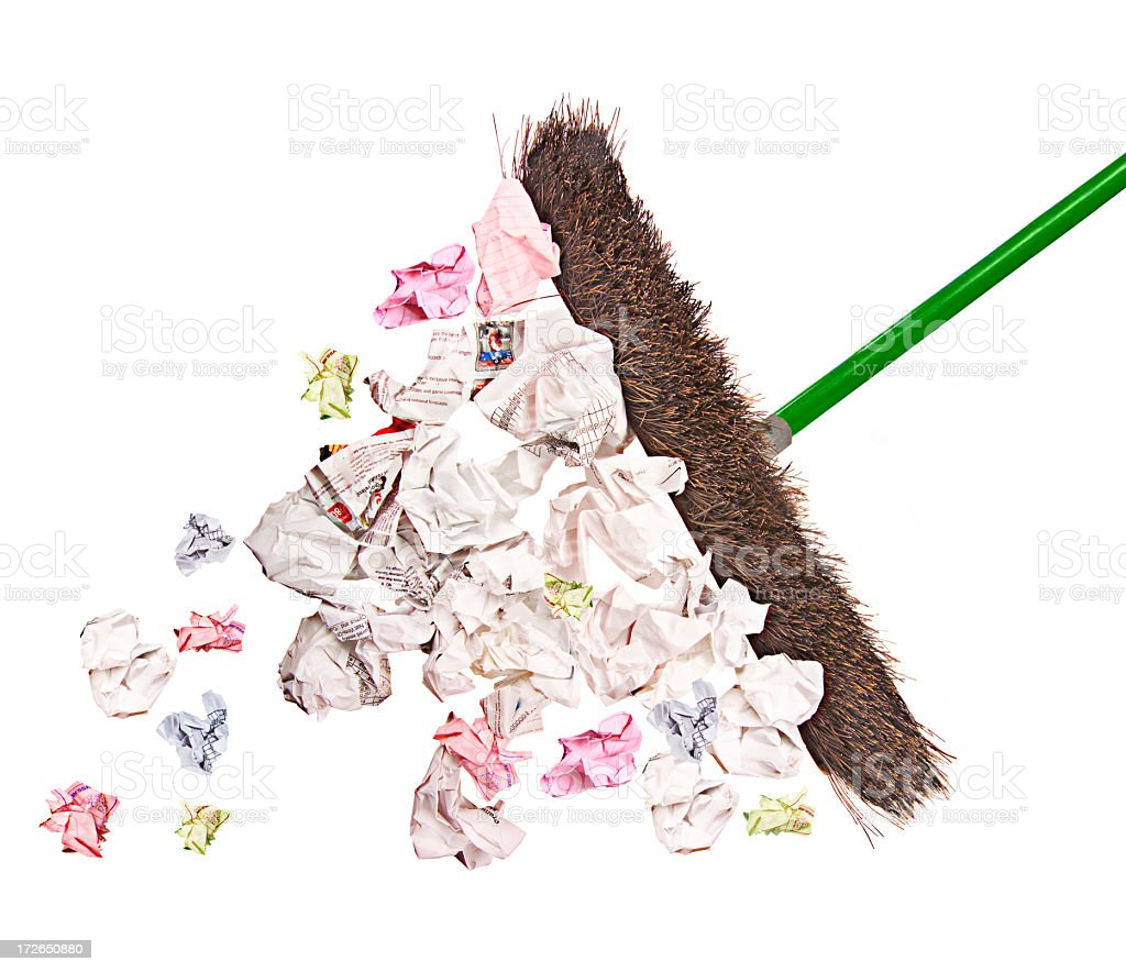 pushbroom from below royalty-free stock photo