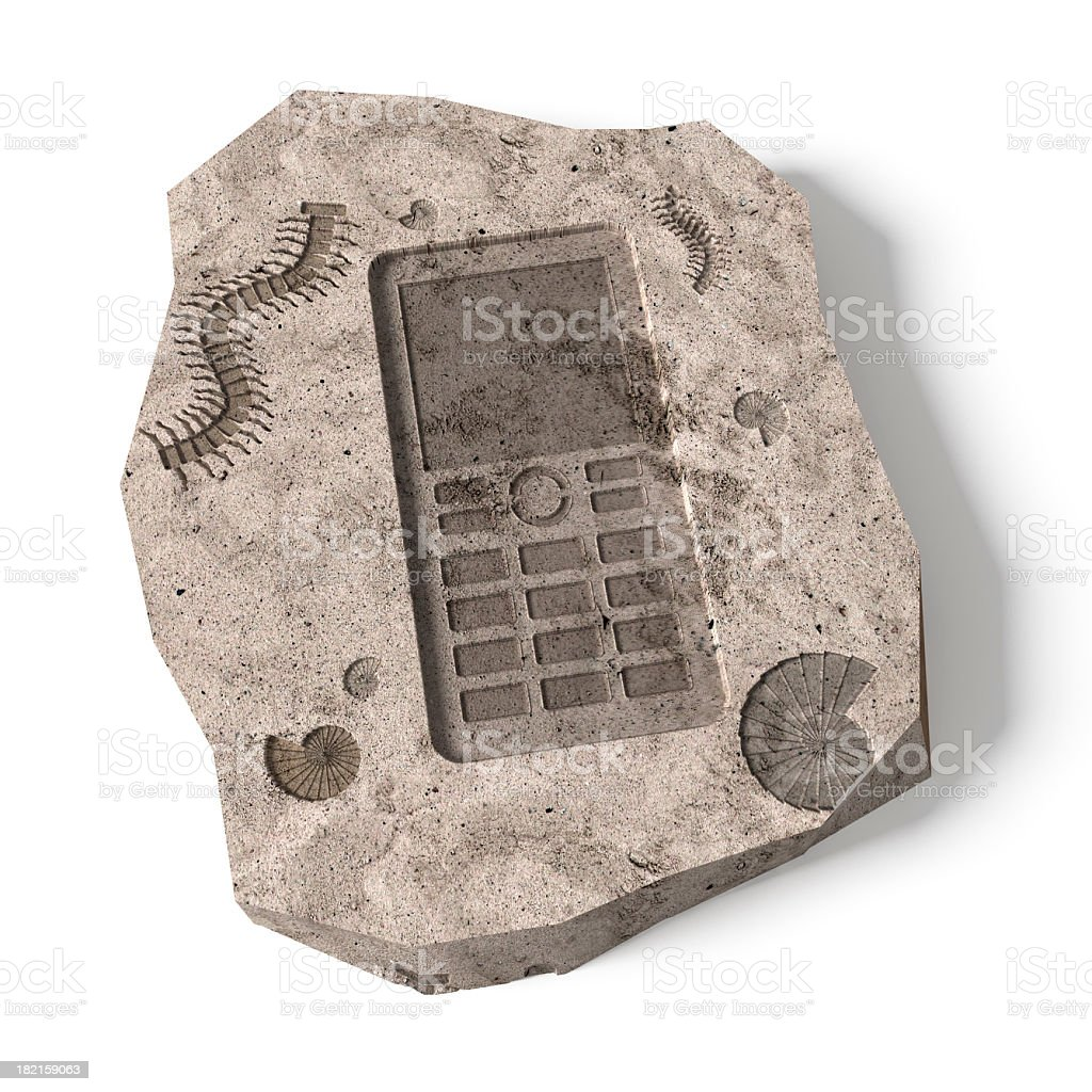 Push-button Mobile Phone stock photo