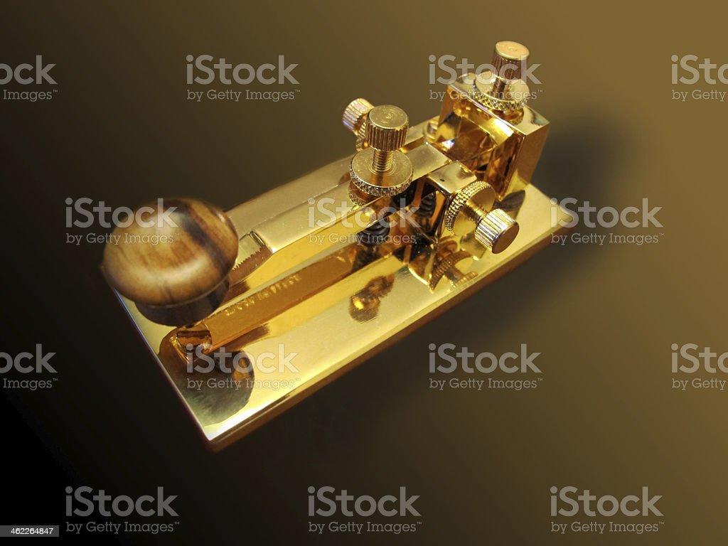 Pushbutton Morse stock photo