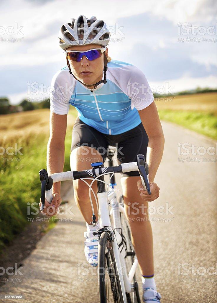 Pushing her endurance royalty-free stock photo