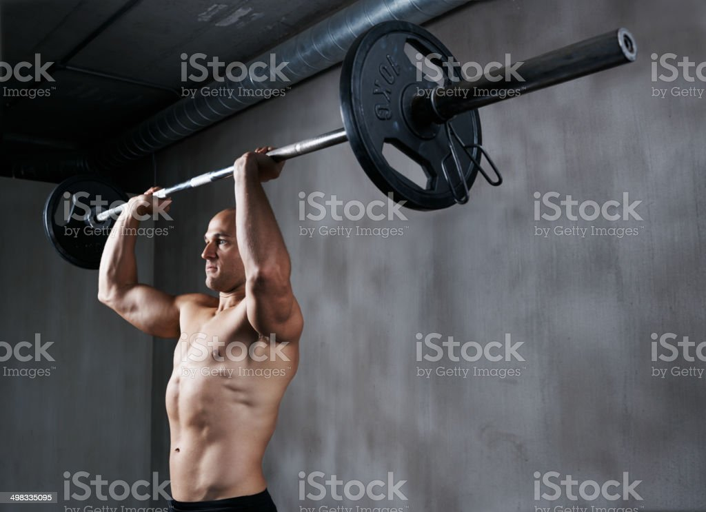 pushing himself to the limit stock photo 498335095 | istock, Muscles