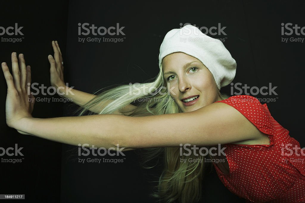 Pushing royalty-free stock photo