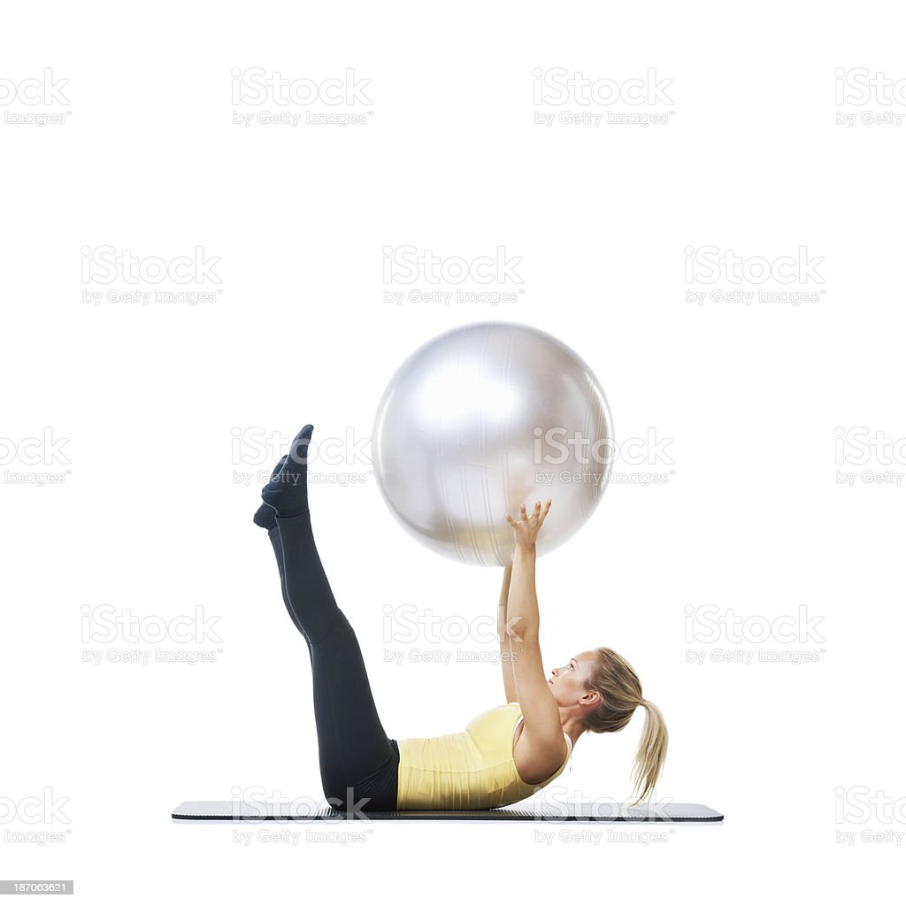 Pushing the limits of my fitness royalty-free stock photo