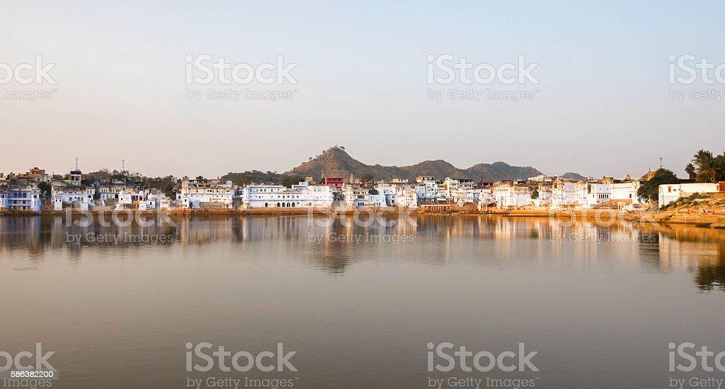 Pushkar Lake, Rajasthan, India. stock photo