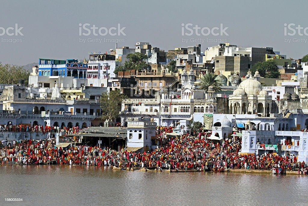Pushkar Lake, Rajasthan royalty-free stock photo