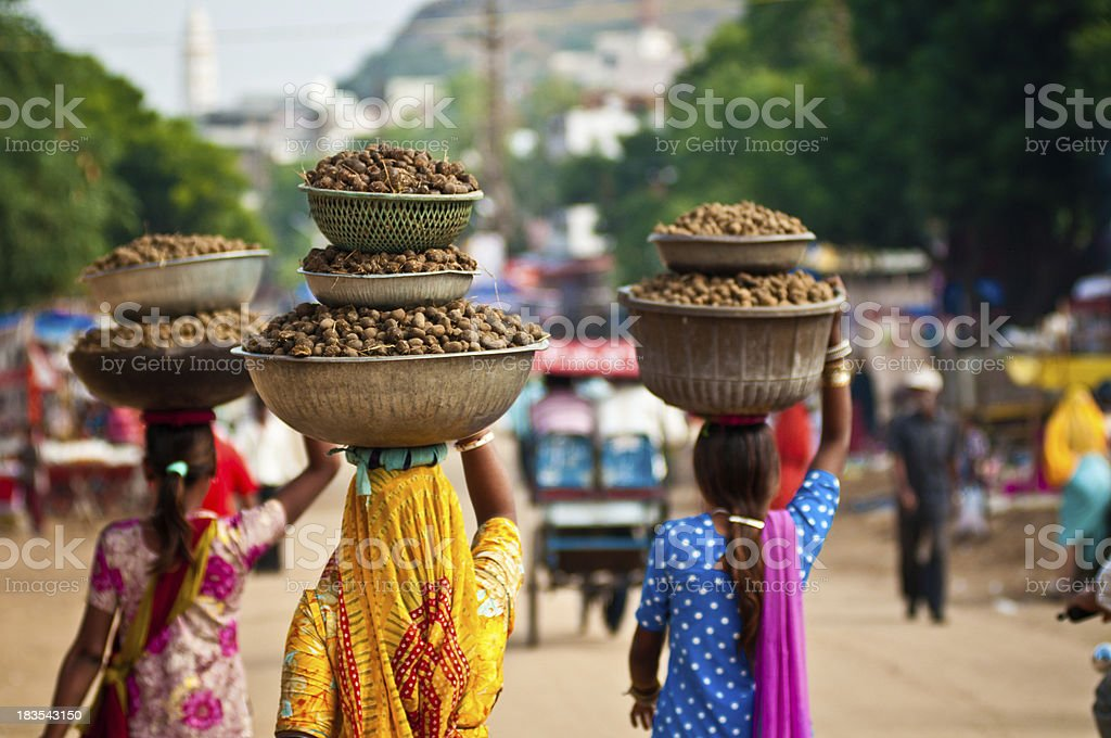 Pushkar Street Scene stock photo