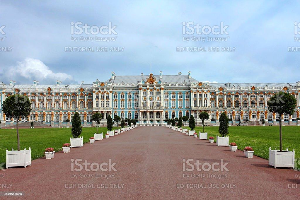 Pushkin Palace near Saint Petersburg, Russia stock photo